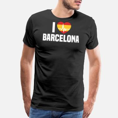 I Love Barcelona I love Barcelona Spain Espana - Men's Premium T-Shirt