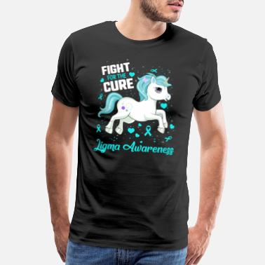 Mi Fight For The Cure Ligma Awareness Blue Ribbon - Men's Premium T-Shirt
