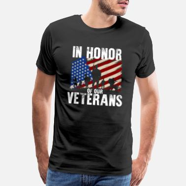Honor In Honor Of Our Veterans Day Celebration Vintage - Men's Premium T-Shirt