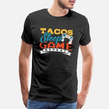 Woman Love Controller Gaming Tacos Gamer Game Geek Gift - Men's Premium T-Shirt