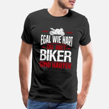 German Funny Motorcycle biker T-shirt gift ride biker - Men's Premium T-Shirt
