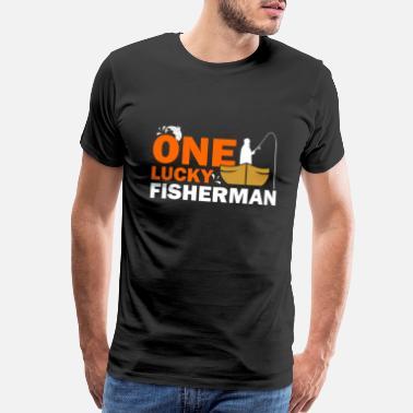 381028a80 Funny Boating Fishing Fish Fisherman Gift Gift idea sea boat fun - Men's  Premium T-