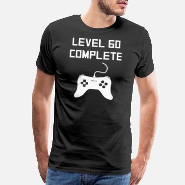 60th Completed Level 60 Complete Video Games 60th Birthday - Men's Premium T-Shirt