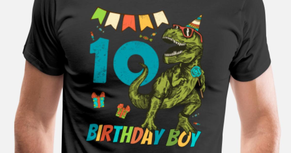 Mens Premium T Shirt10 Year Olds Childrens Birthday Boy Party
