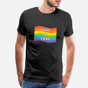 I Support Gay Marriage Love Is LGBTQ Gay Rainbow gift - Men's Premium T-Shirt