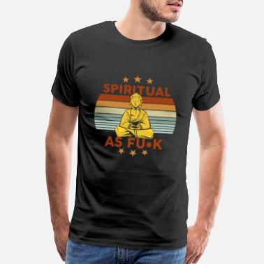 Pain Yoga spiritual and mindfull find inner peace - Men's Premium T-Shirt