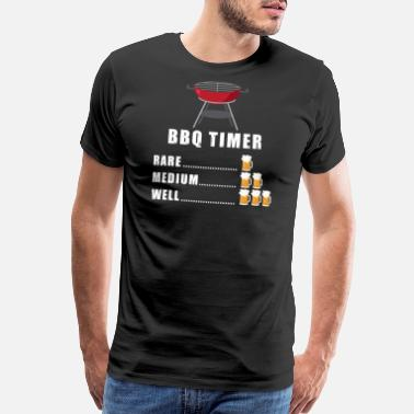 Will Bbq For Beer BBQ Timer Beer Season Grill Gift - Men's Premium T-Shirt