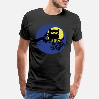 Ast full moon owl ast - Men's Premium T-Shirt