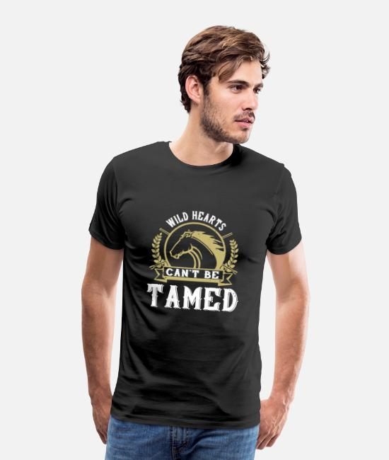 Horse Racing T-Shirts - Horse - Wild Hearts Can't Be Tamed - Men's Premium T-Shirt black