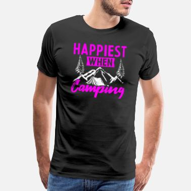 Road Happiest when Camping - Men's Premium T-Shirt
