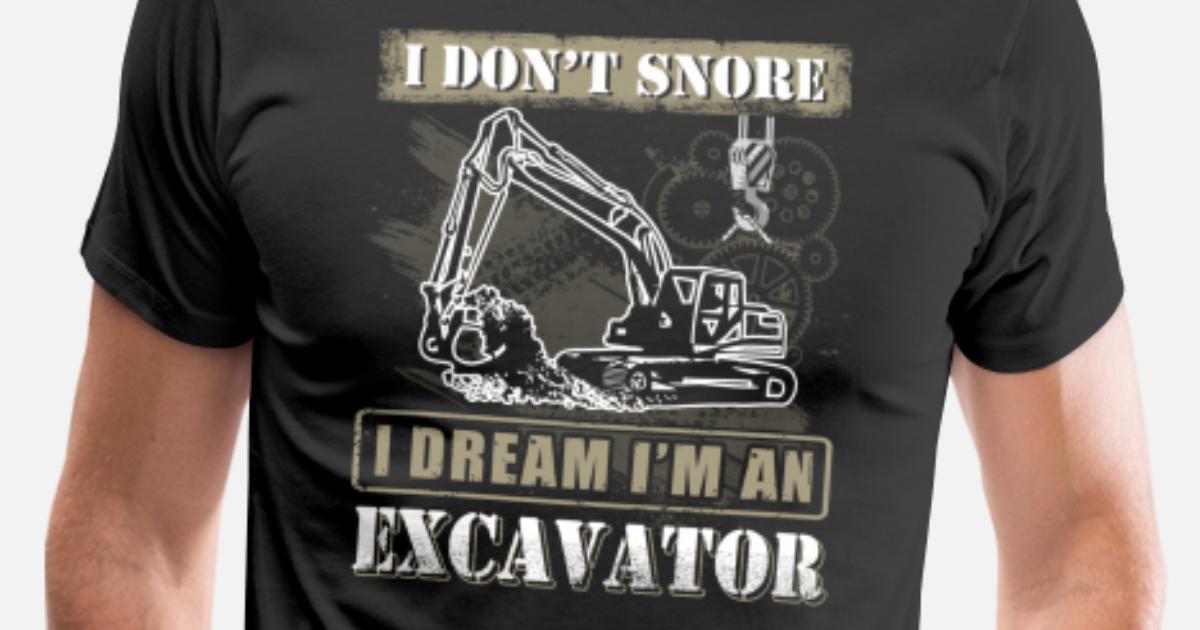 b3cafa47 Excavator Heavy Equipment Operator T-Shirts Men's Premium T-Shirt ...