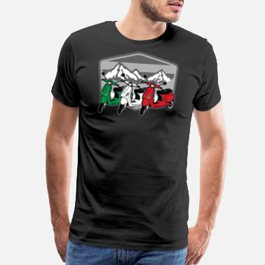 Italy Scooter Italia | Motorbike Italy Flag Two Wheeler - Men's Premium T-Shirt