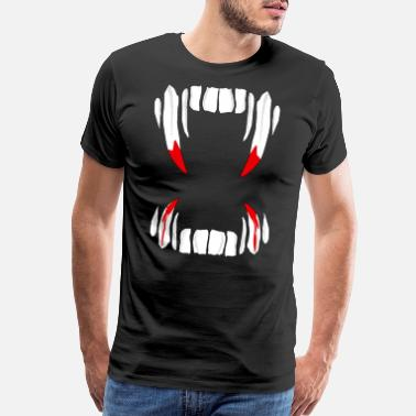 Denture Vampire teeth denture Dracula - Men's Premium T-Shirt