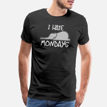 Baby Seal I Hate Mondays Cute Elephant Monday Hater Gift - Men's Premium T-Shirt