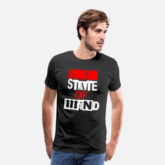 State Capital T-Shirts - Ny State Of Mind - Men's Premium T-Shirt black