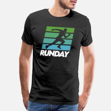 Work Out Runday Motivation Runner Marathon Vintage Retro - Men's Premium T-Shirt