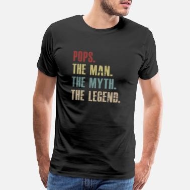 Legend Pops The Man The Myth The Legend Vintage - Men's Premium T-Shirt