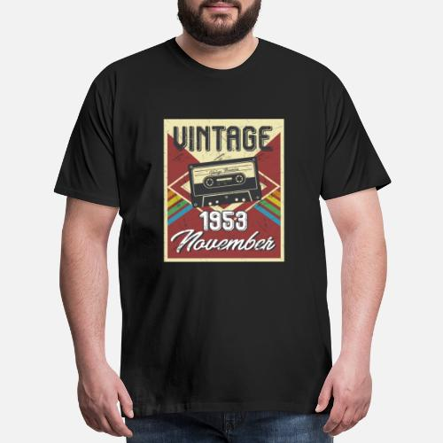 Mens Premium T Shirt65th Birthday Gifts Retro Vintage November 1953