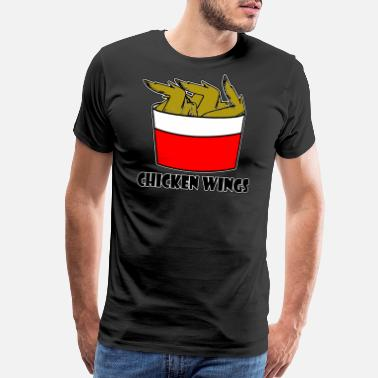Chicken Wing Chicken Wings - Chicken - Men's Premium T-Shirt