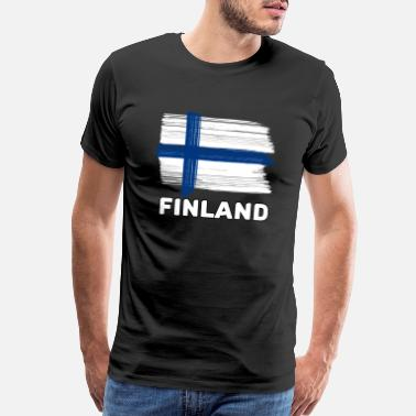 Freak Family Finland with national flag for lovers and freaks - Men's Premium T-Shirt