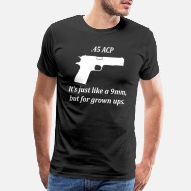 1911 45 vs 9mm - Men's Premium T-Shirt