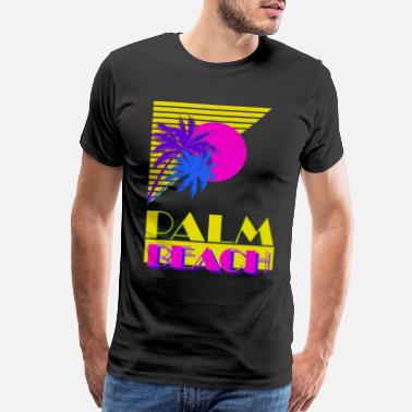 Miami Palm Beach 80s - Men's Premium T-Shirt