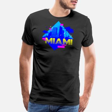 Miami Party MIAMI RETRO - Men's Premium T-Shirt