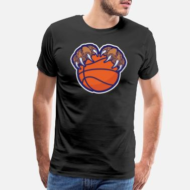 Bears Basketball Bear Hand Basketball - Men's Premium T-Shirt