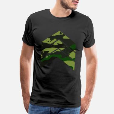 Pattern Camouflage triangle arrows green - Men's Premium T-Shirt