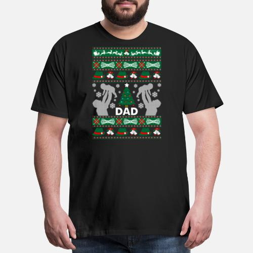 Dad Ugly Christmas Sweater Mens Premium T Shirt Spreadshirt