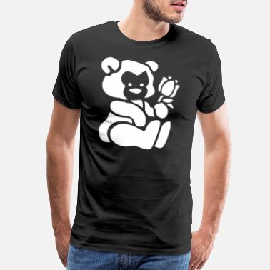 Pooh Baby Bear With A Flower - Men's Premium T-Shirt