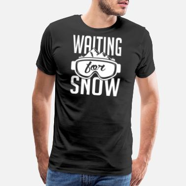 Winter Waiting for snow - Men's Premium T-Shirt