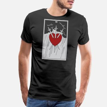 Three Of Swords Tarot Three Of Swords - Men's Premium T-Shirt