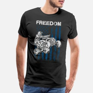 Atv ATV Quad Freedom Flag USA - Men's Premium T-Shirt