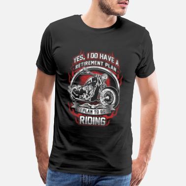 MOTORBIKE T-SHIRT Mens Retirement Plan Funny Motorcycle Biker Indian Bike Helmet