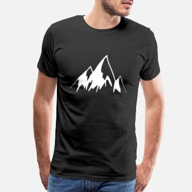 Visualization Cartoon Mountains - Men's Premium T-Shirt