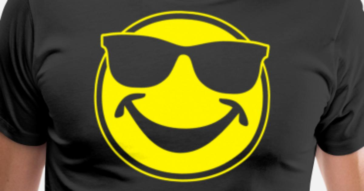 a42471a97a19 COOL yellow SMILEY BRO with sunglasses Men's Premium T-Shirt | Spreadshirt