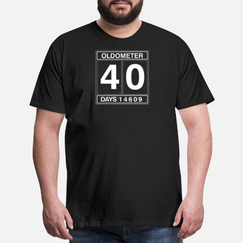 Oldometer Funny Mens 40th Birthday T Shirt Gift Men S Premium T