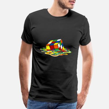 Cooper Sheldon Melting cube - Men's Premium T-Shirt