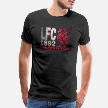 Fans Ultras Liverpool never walk alone - Men's Premium T-Shirt