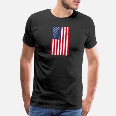 f124c4cc7f4ef 4th Of July American Flag - Men s Premium T-Shirt