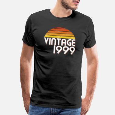 1999 20th Birthday 20 Years Vintage Since 1999 Gift - Men's Premium T-Shirt