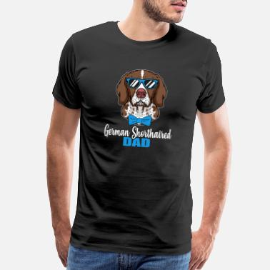 I Love Dogs Cool German Shorthaired Dog Dad Dog Lover Pet Gift - Men's Premium T-Shirt