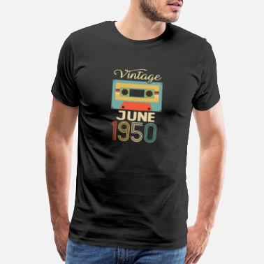 Limited Vintage June 1950 70th Birthday 70 Year Gift - Men's Premium T-Shirt
