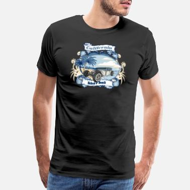 Muscle Car California Hotrod & Beach - Men's Premium T-Shirt