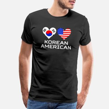 South Korean Heart Korean American Hearts - Men's Premium T-Shirt