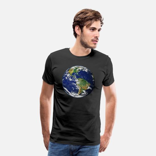 Earth T-Shirts - Planet Earth - Men's Premium T-Shirt black
