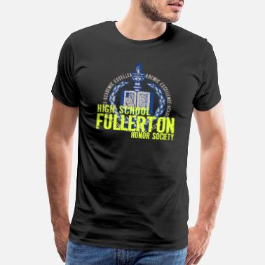 Nerd Academics ACADEMIC EXCELLENCE HIGH SCHOOL FULLERTON HONOR SO - Men's Premium T-Shirt