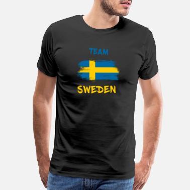 Mens Ringer World Cup 2018 T-Shirt KEEP CALM /& Support SWEDEN Football