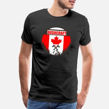 Wilderness Survival Bushcraft Canada Canada Flag Axes - Gift Idea - Men's Premium T-Shirt